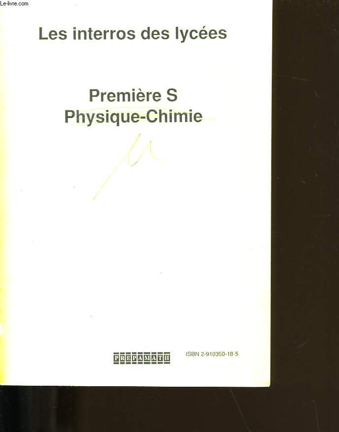 PHYSIQUE - CHIMIE.