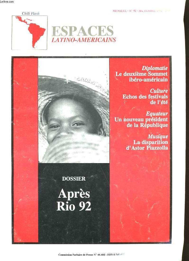 CHILI FLASH. ESPACES LATINO-AMERICAINS N°92.
