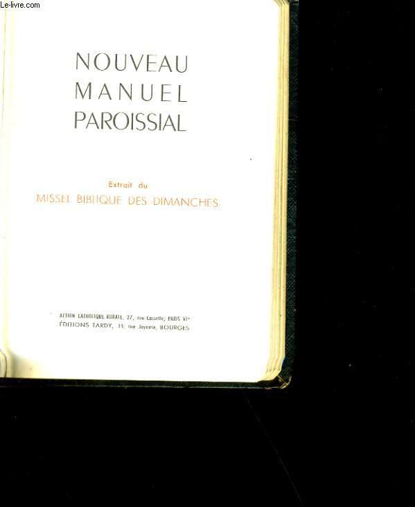 NOUVEAU MANUEL PAROISSIAL.