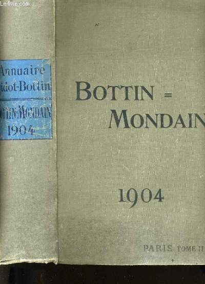 BOTTIN MONDAIN.  ANNUAIRE DIDOT-BOTTIN. 1904. . TOME 2.