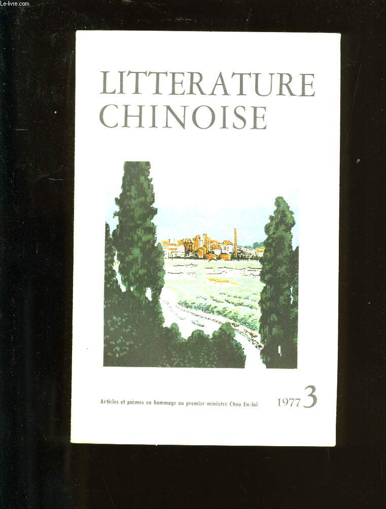 LITTERATURE CHINOISE. N°3.