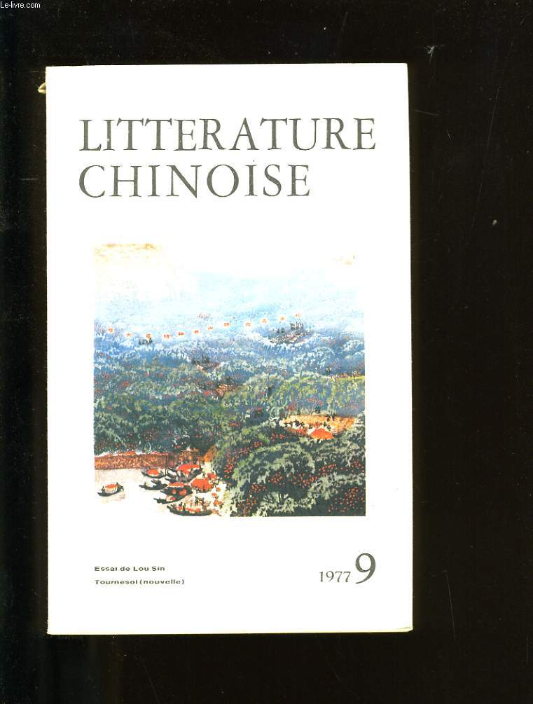 LITTERATURE CHINOISE. N°9.