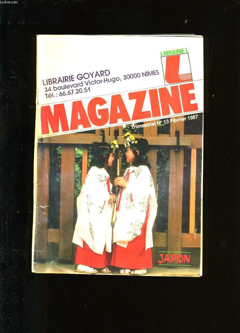 MAGAZINE. LIBRAIRIE L. N°13.