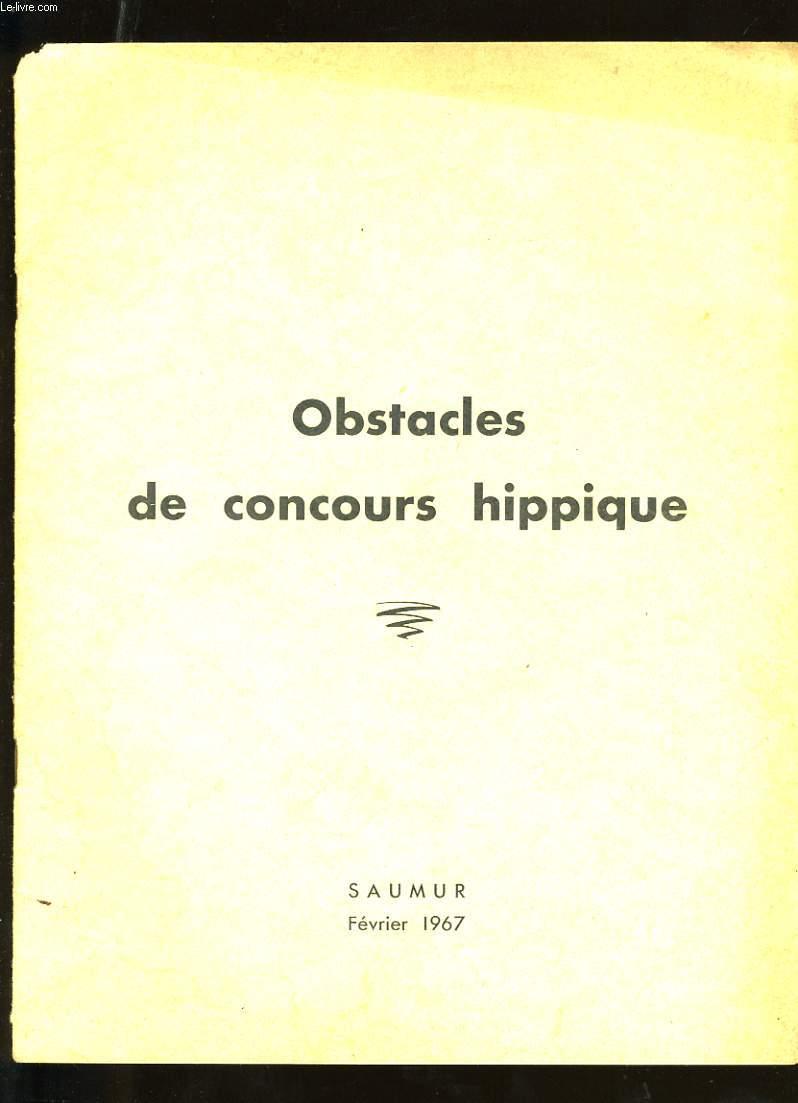 OBSTACLES DE CONCOURS HIPPIQUE.