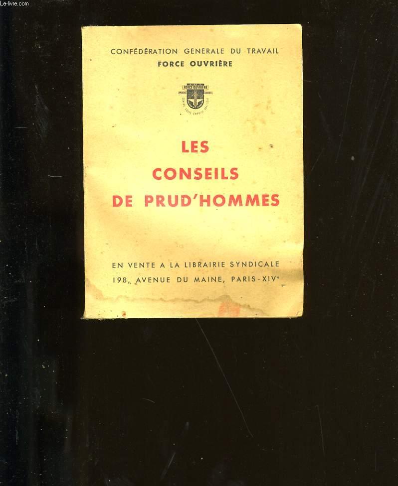 LES CONSEILS DE PRU'HOMMES.