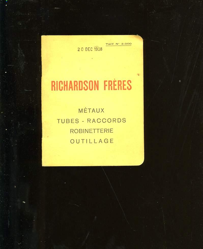 RICHARDSON FRERES. TARIFS N° 3 000.
