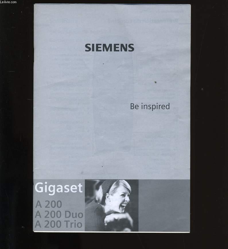 MANUEL D'UTILISATION SIEMENS A200 - A200 Duo - A 200 Trio.