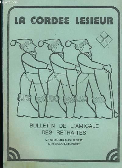 LA CORDEE. LESIEUR. BULLETIN DE L'AMICALE DES RETRAITES N°42.