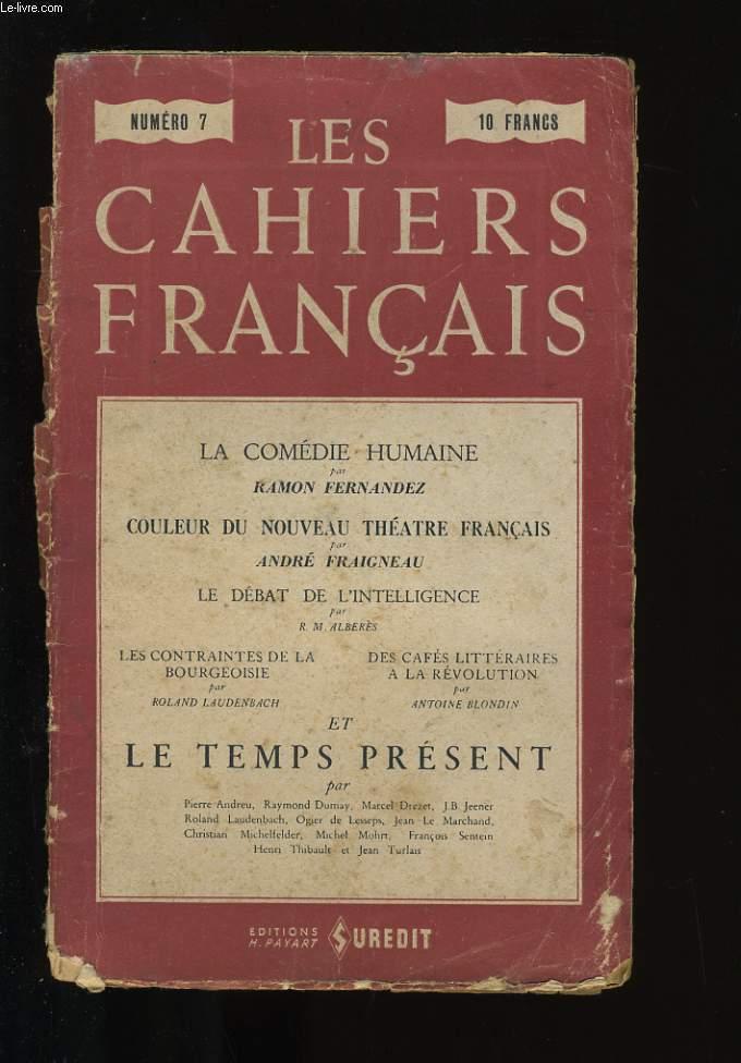 LES CAHIERS FRANCAIS N°7.