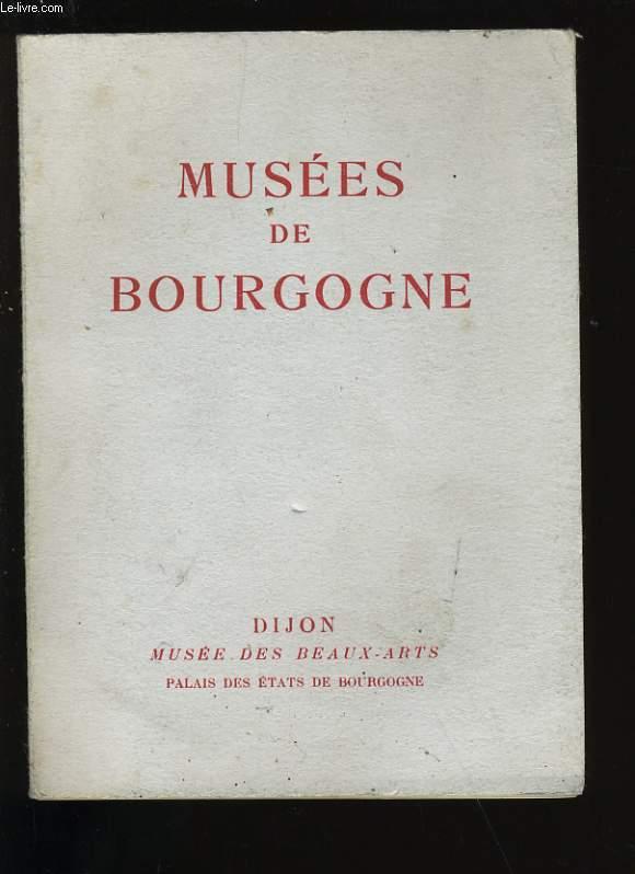 MUSEES DE BOURGOGNE.