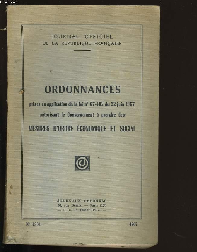 ORDONNANCES N°1304.