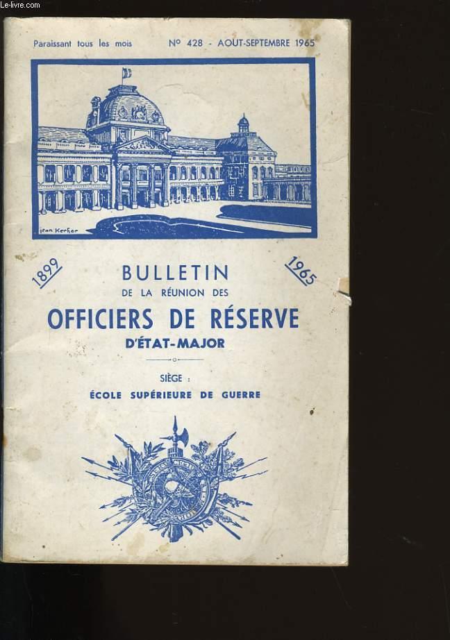 BULLETIN DE LA REUNION DES OFFICIERS DE RESERVE D'ETAT-MAJOR. N° 428.