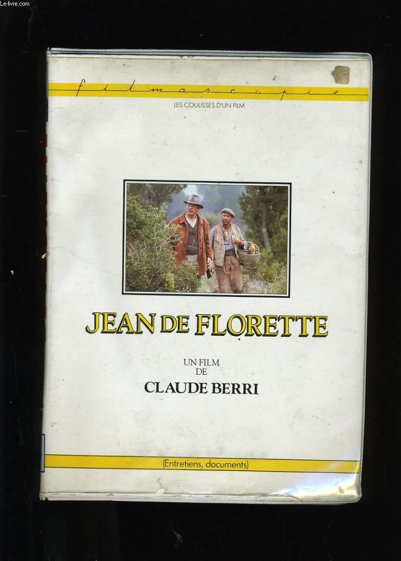 JEAN DE FLORETTE. COFFRET CONTENANT UNE CASSETTE ENTRETIEN ET UN LIVRET DE PRESSE.