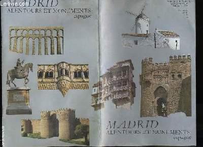 MADRID. ALENTOURS ET MONUMENTS. ESPAGNE.