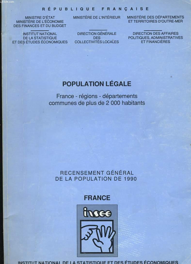 POPULATION LEGALE.
