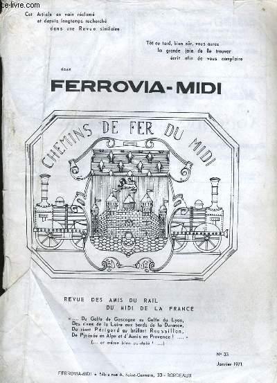 FERROVIA-MIDI N°33, CHEMINS DE FER DU MIDI DE LA FRANCE