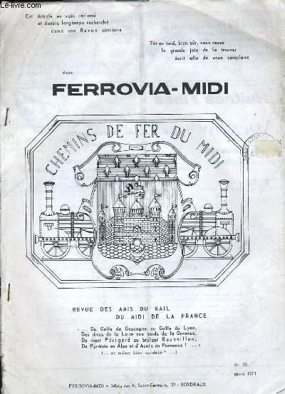 FERROVIA-MIDI N°35, CHEMINS DE FER DU MIDI DE LA FRANCE