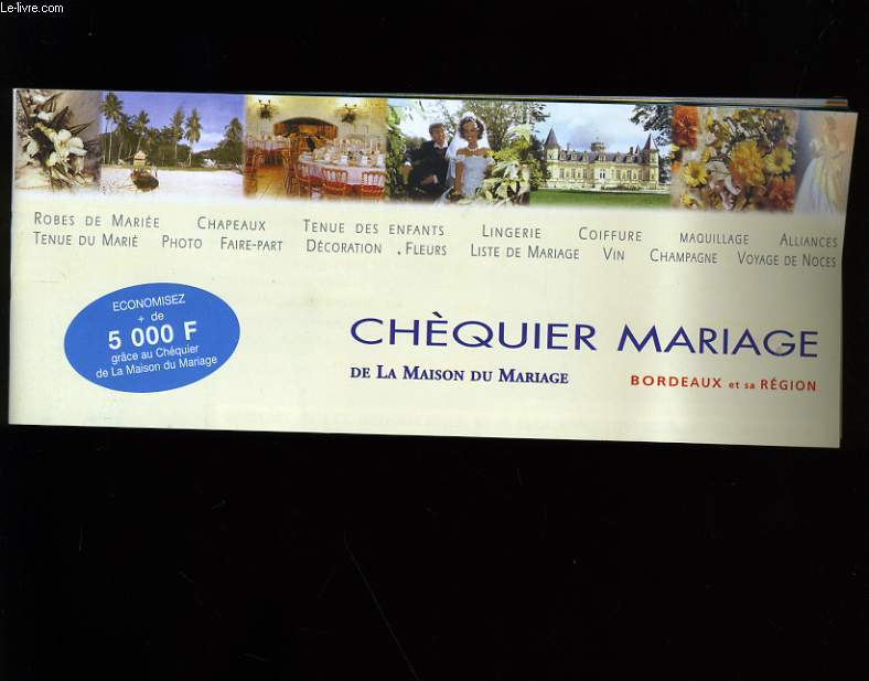 cheque mariage de la maison du mariage collectif