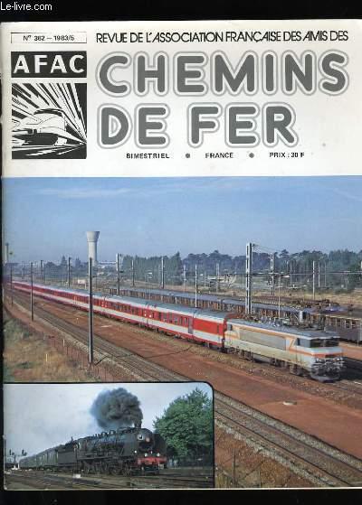 REVUE DE L'ASSOCIATION FRANCAISE DES AMIS DES CHEMINS DE FER N°262.