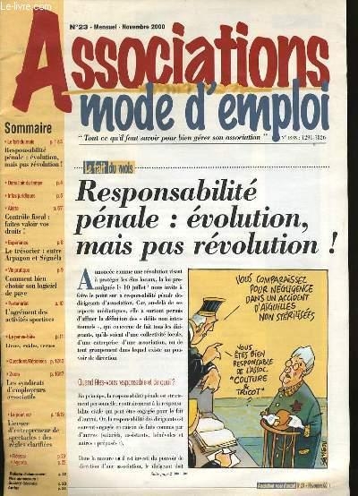 ASSOCIATION MODE D'EMPLOI N° 23.
