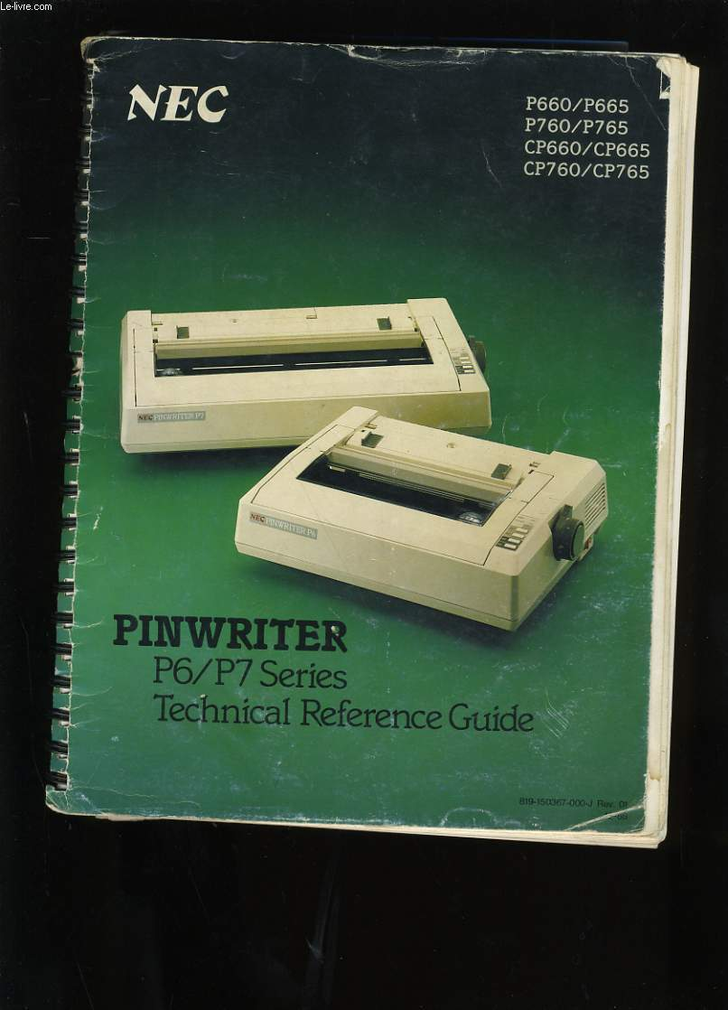 MODE D'EMPLOI. NEC. PINWRITER P6/P7 SERIES. TECHNICAL REFERENCE GUIDE.