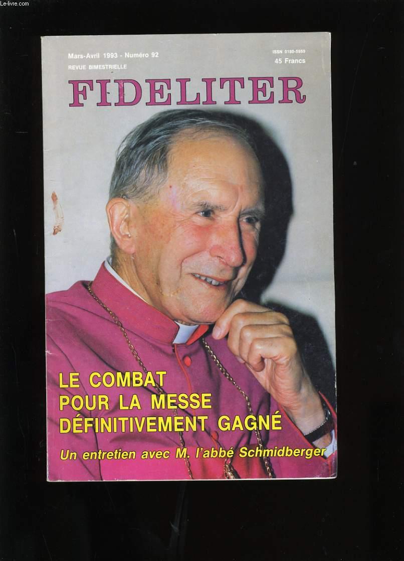 FIDELITER. N°92.