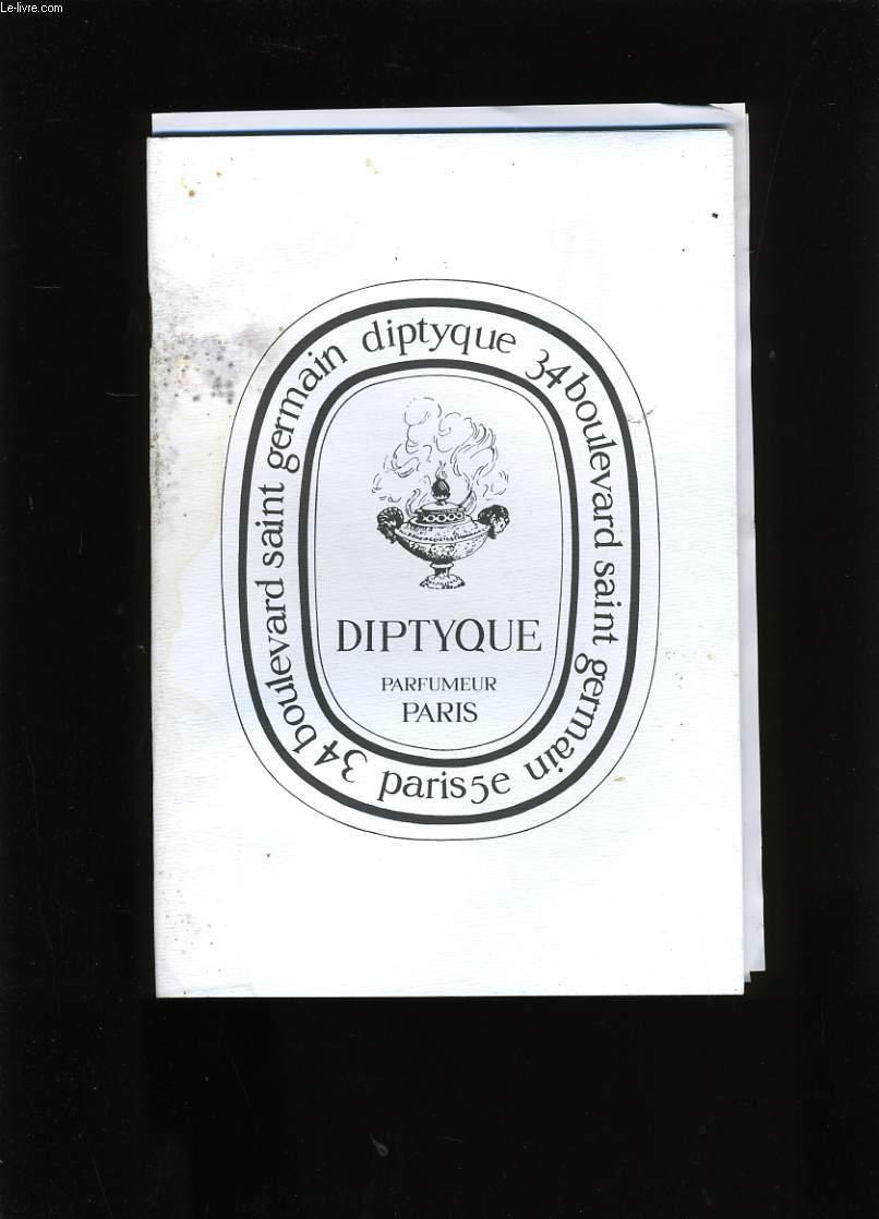 CATALOGUE DE PARFUMS. DIPTYQUE.