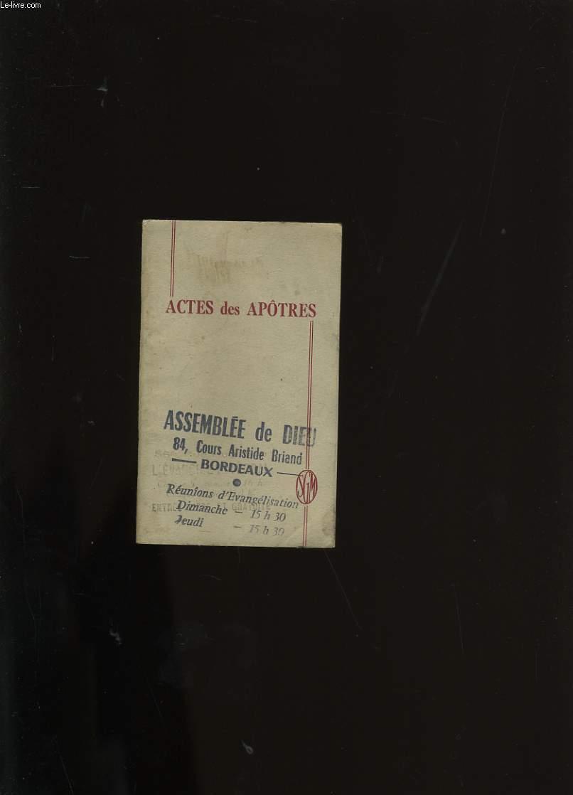 ACTES DES APOTRES.