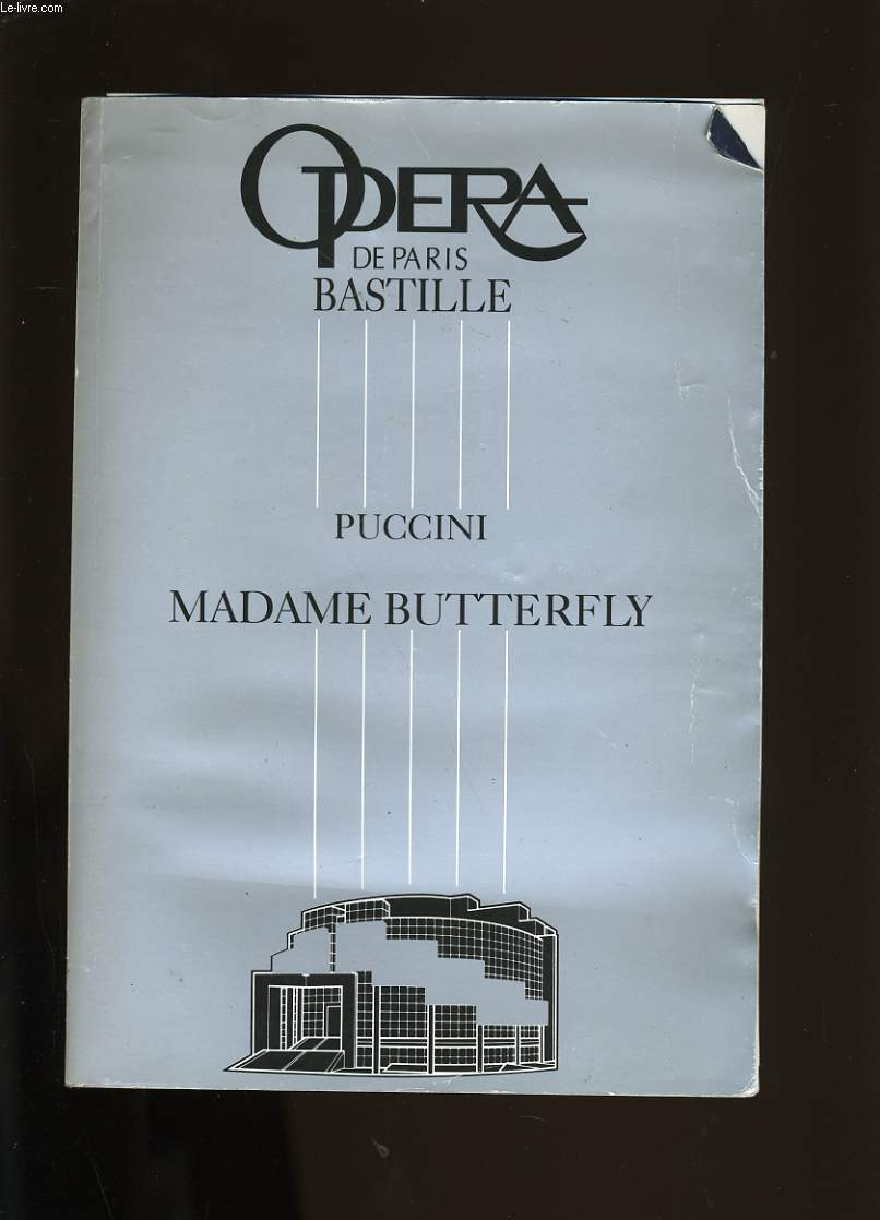 PROGRAMME D'OPERA. PUCCINI ET MADAME BUTTERFLY.