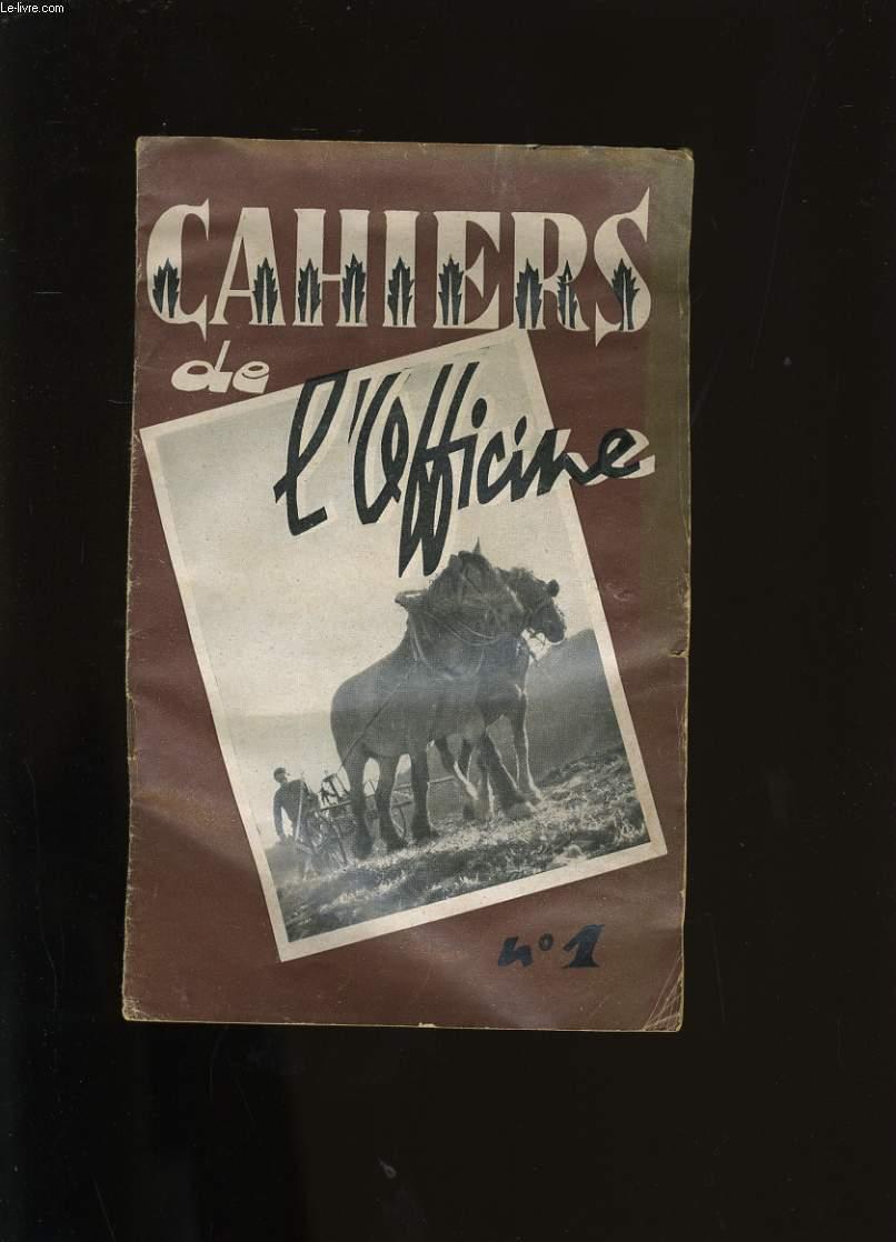 CAHIERS DE L'OFFICINE  N°1.