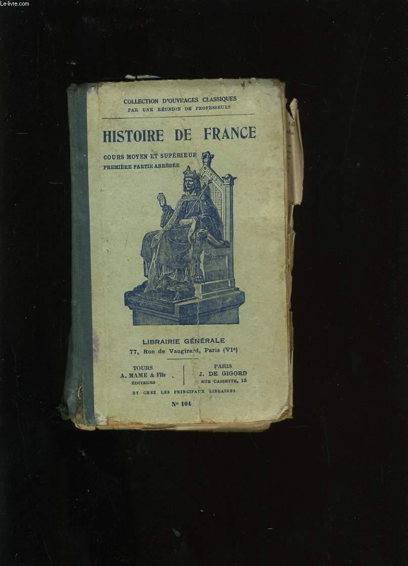 HISTOIRE DE FRANCE.
