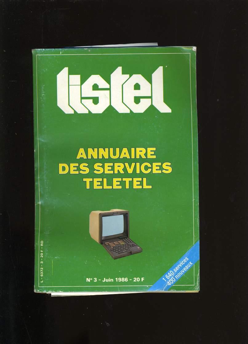 LISTEL N°3.  ANNUAIRE DES SERVICES TELETEL.