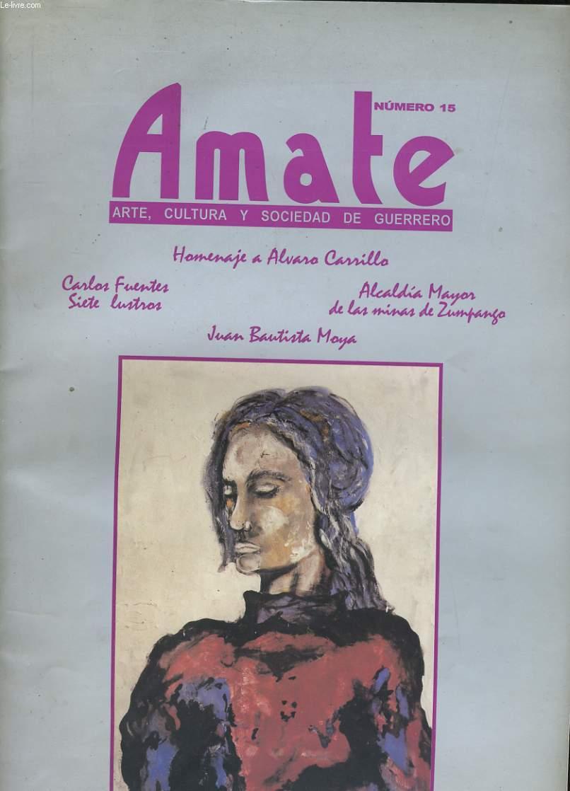 AMATE N° 15. ARTE, CULTURA Y SOCIEDAD DE GUERRERO.