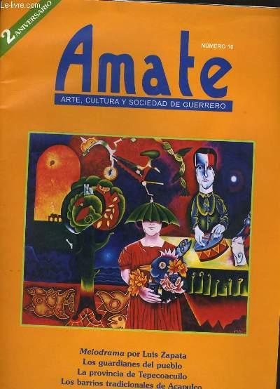 AMATE N° 10. ARTE, CULTURA Y SOCIEDAD DE GUERRERO.