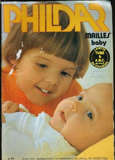 PHILDAR MAILLES BABY. N° 45.