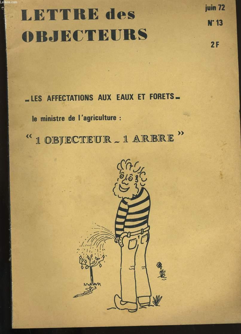 LETTRES DES OBJECTEURS. N° 13.