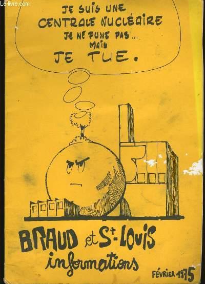 BRAUD ET ST LOUIS. INFORMATIONS.