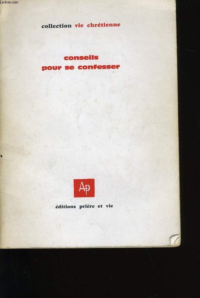 CONSEILS POUR SE CONFESSER.