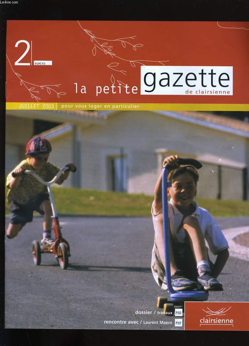 LA PETITE GAZETTE DE CLAIRSIENNE N° 2.
