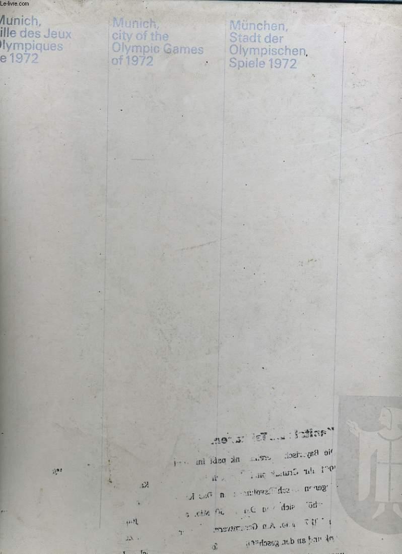 MUNICH VILLE DES JEUX OLYMPIQUES DE 1972.