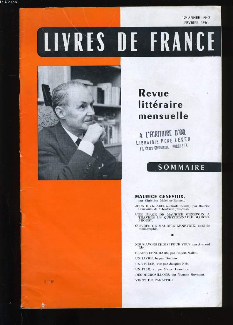 REVUE DE FRANCE N ° 2. 12 EME  ANNEE.