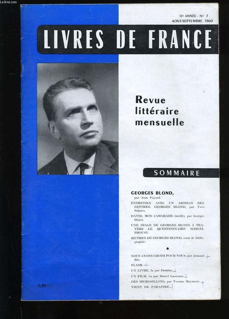 REVUE DE FRANCE N ° 7. 11 EME  ANNEE.