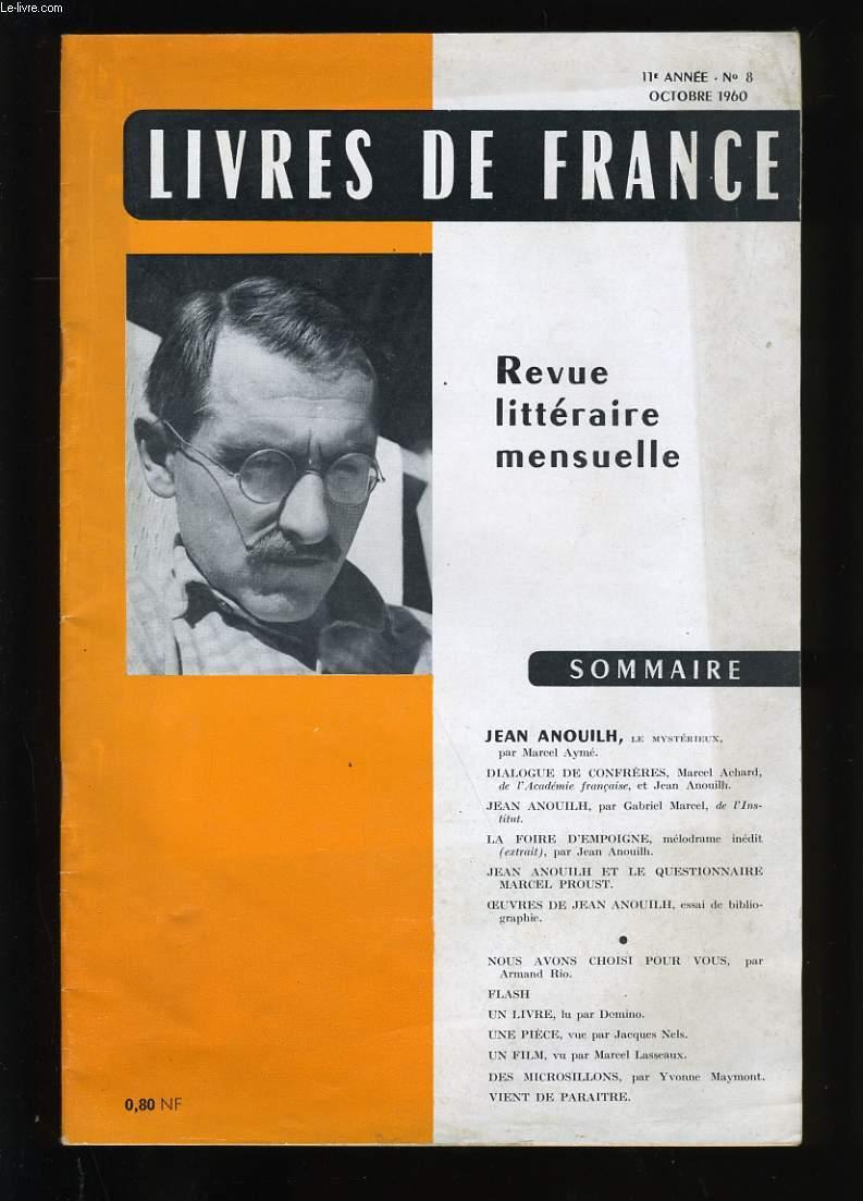 REVUE DE FRANCE N ° 8. 11 EME  ANNEE.