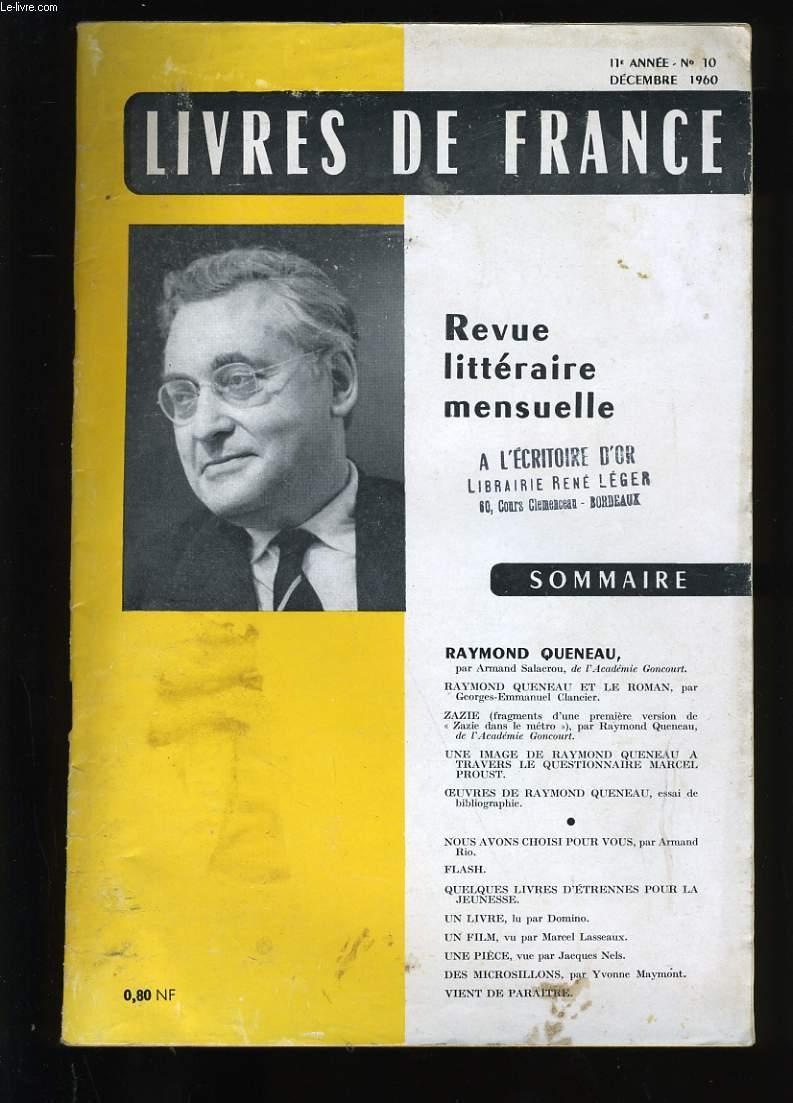 REVUE DE FRANCE N ° 10. 11 EME  ANNEE.