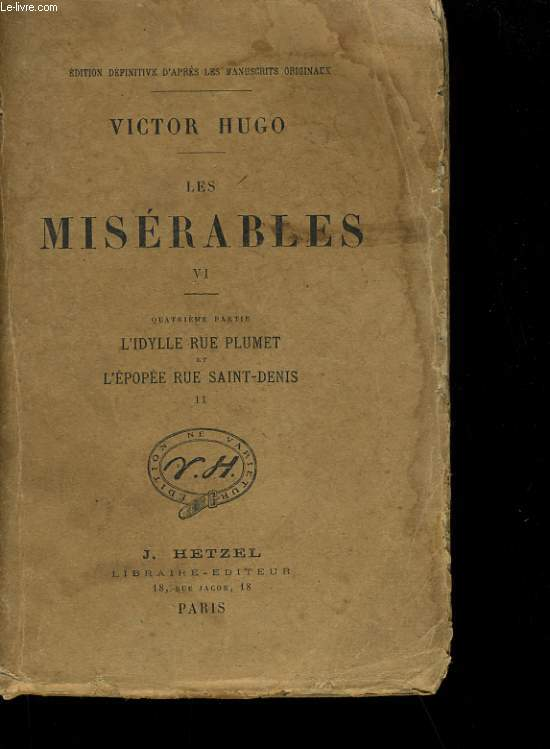 LES MISERABLES TOME 6.