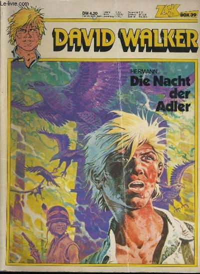 DAVID WALKER.  DIE NACHT DER ADLER. ZACK BOX 39.