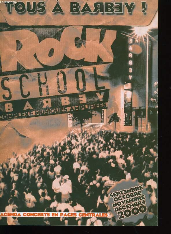 ROCK SCHOOL BARBEY. AGENDA CONCERTS.