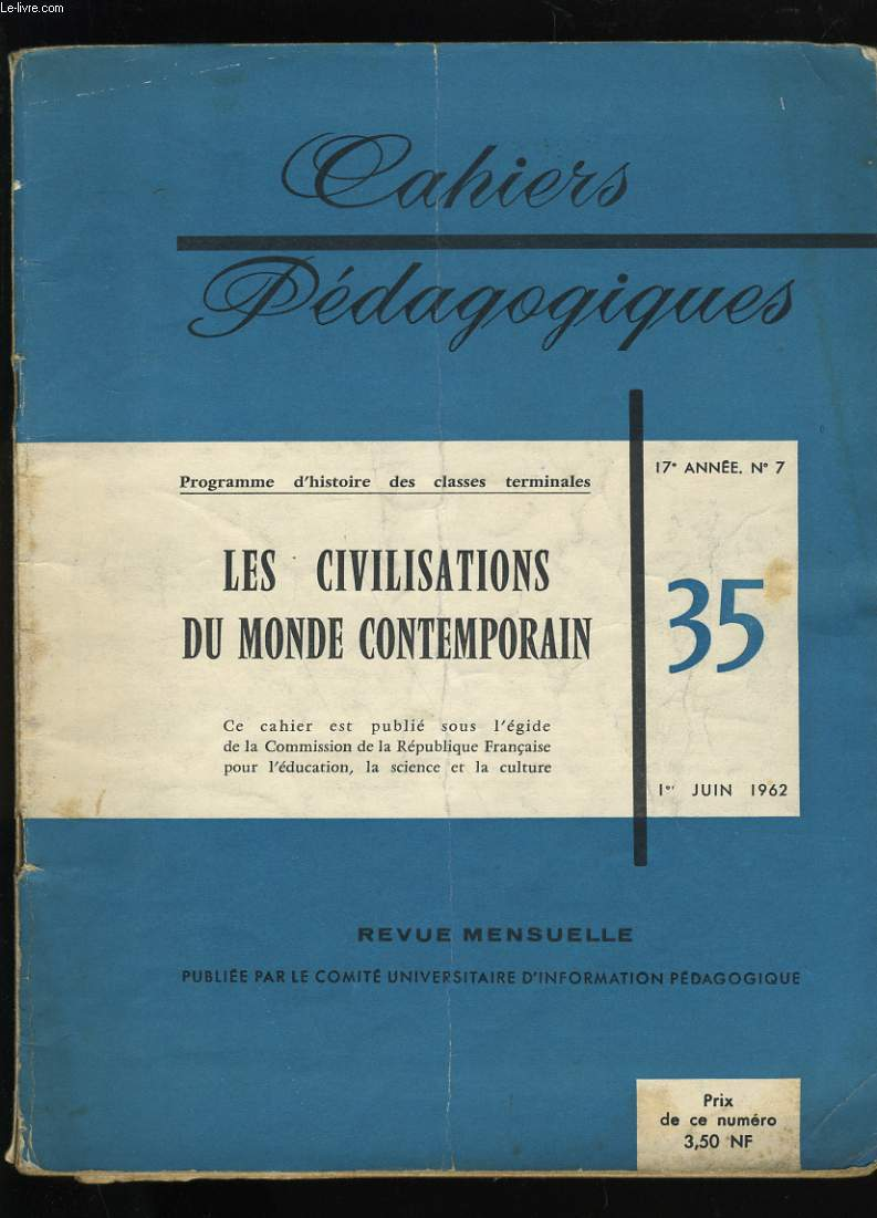 CAHIERS PEDAGOGIQUES N° 35.