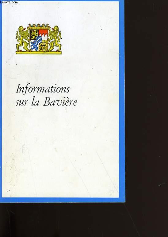 INFORMATIONS SUR LA BAVIERE.