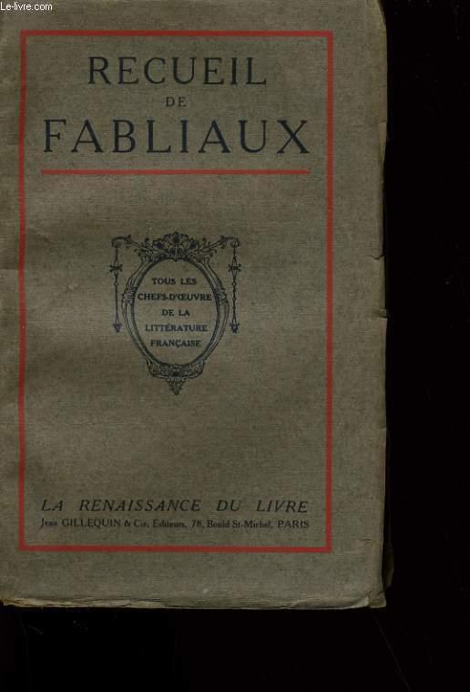 RECUEIL DE FABLIAUX.